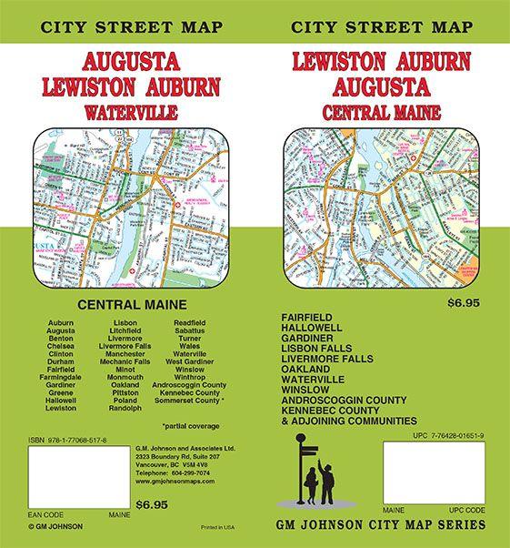 Augusta Lewiston Auburn Waterville Maine Street Map Gm