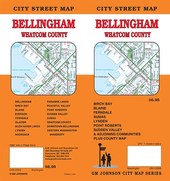 Bellingham / Whatcom County, Washington Street Map - GM Johnson Maps