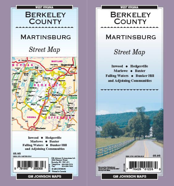 Berkeley County Martinsburg West Virginia Street Map Gm Johnson