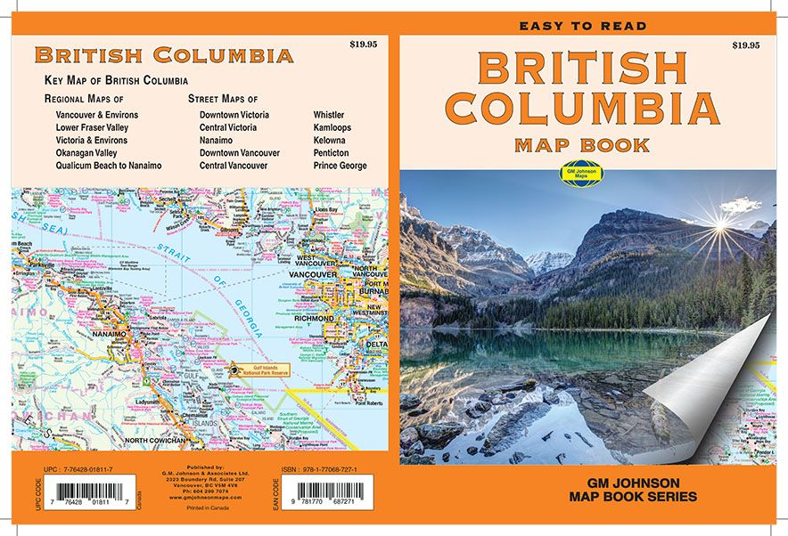 British Columbia, Canada Map Book - GM Johnson Maps on