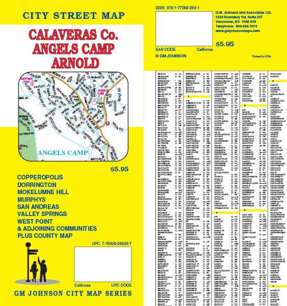 Calaveras County Angels Camp San Andreas Arnold California