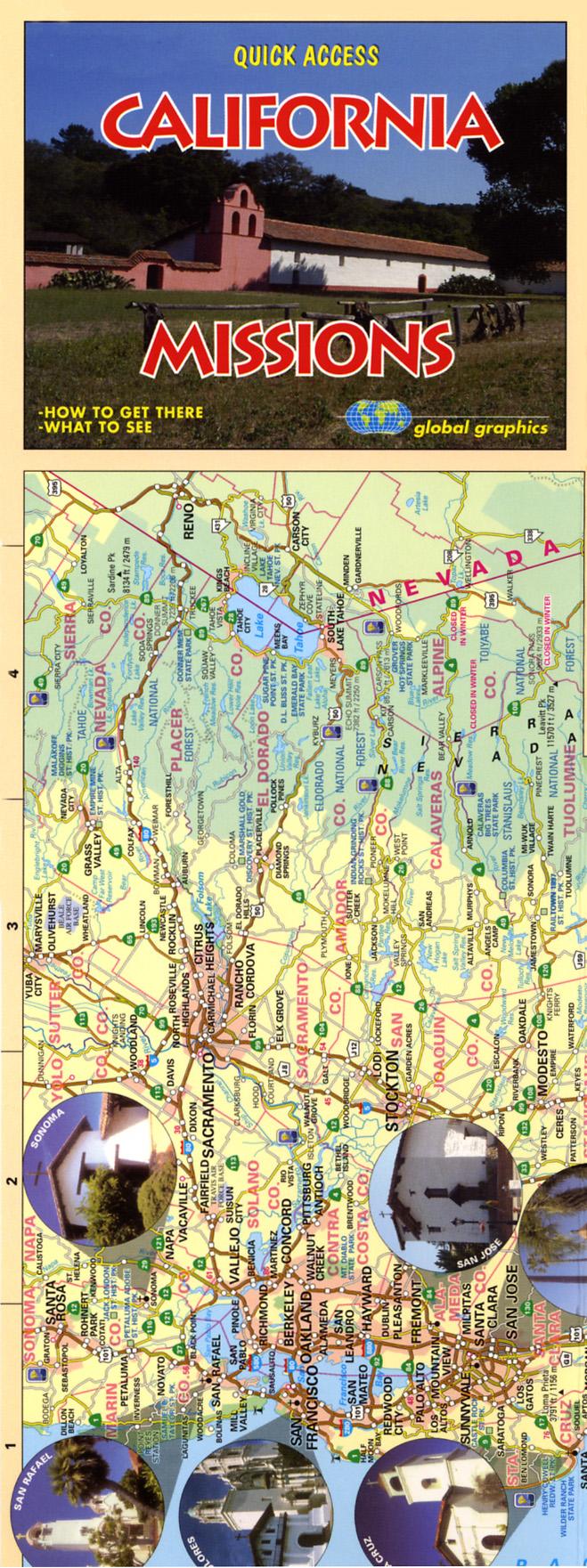 Street Map California Missions California California Maps