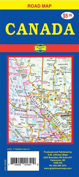 Canada, Canada Road Map - GM Johnson Maps on