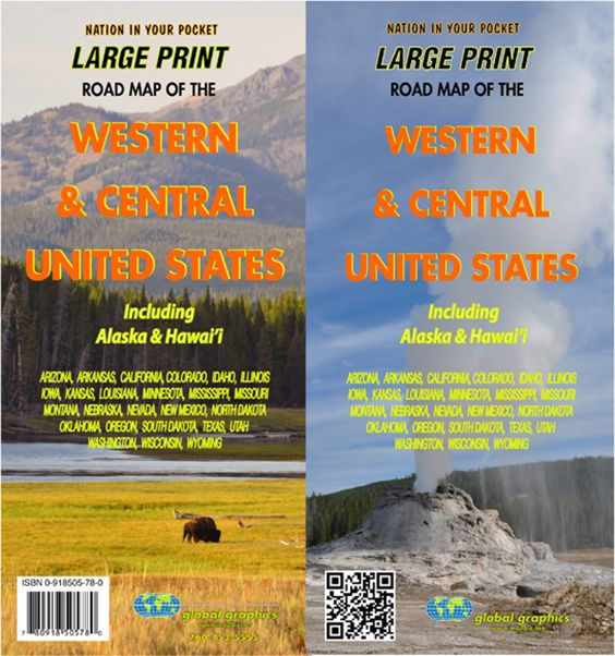 Central Western United States Large Print Map GM Johnson Maps