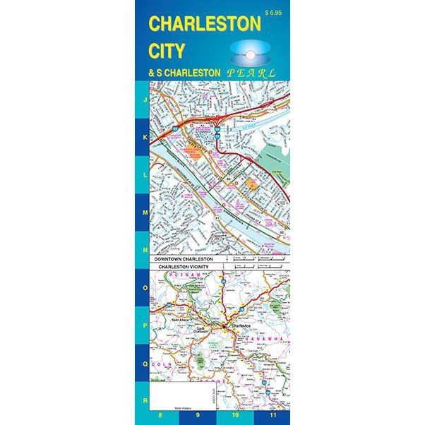 Charleston, West Virginia City Pearl - GM Johnson Maps on