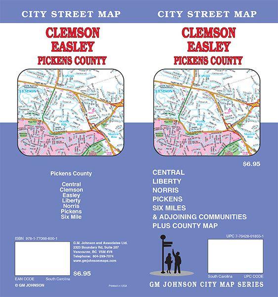 Clemson South Carolina Map on