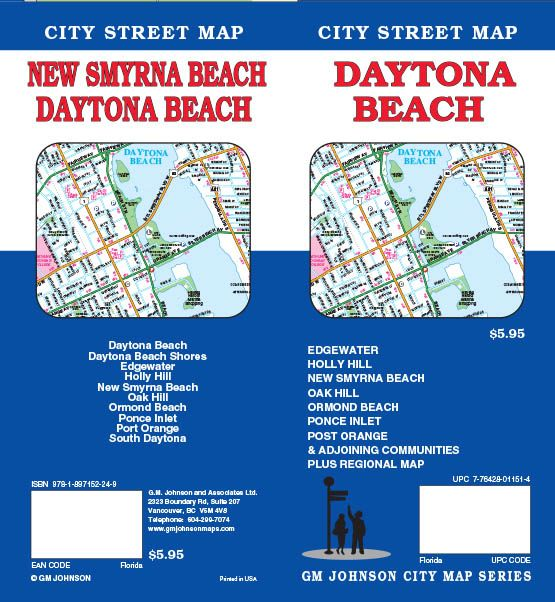Daytona Beach Florida Street Map GM Johnson Maps