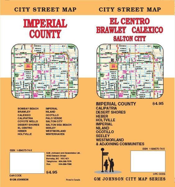 Brawley California Map.El Centro Imperial County Brawley Calexico California Street
