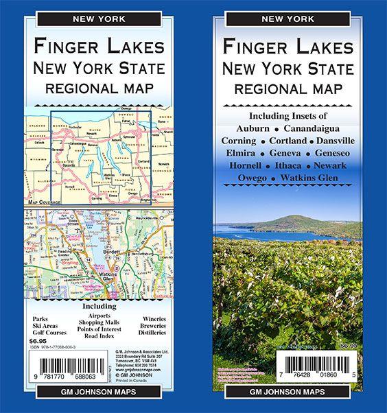 Map Of New York Finger Lakes.Finger Lakes New York State New York