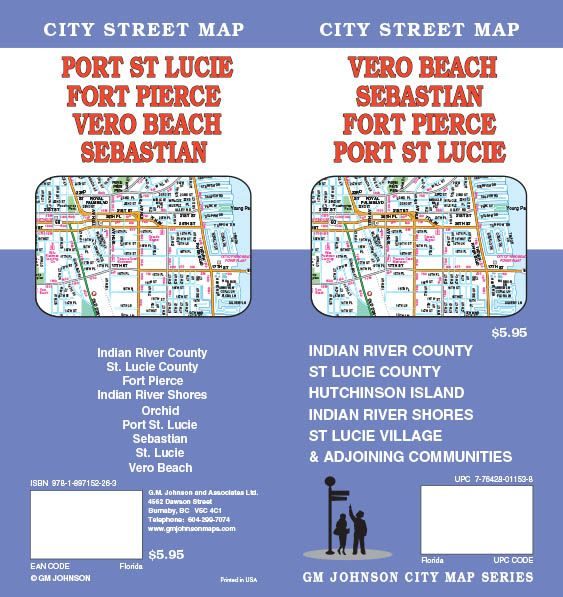 Fort Pierce Port St Lucie Vero Beach Sebastian Florida - Vero beach florida map