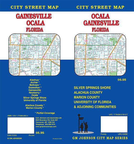 Map University Of Florida.Gainesville Ocala University Of Florida Florida