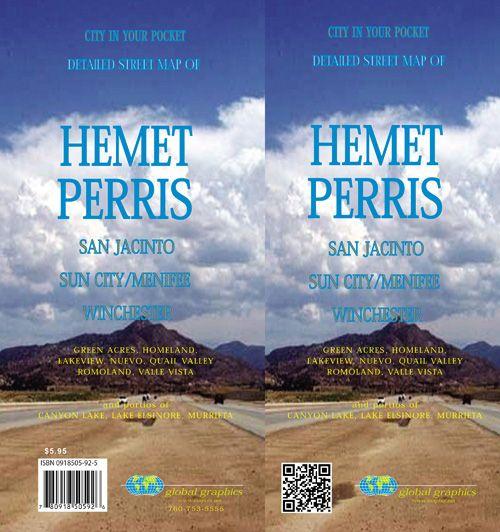 Hemet Perris Sun City Menifee California Street Map Gm