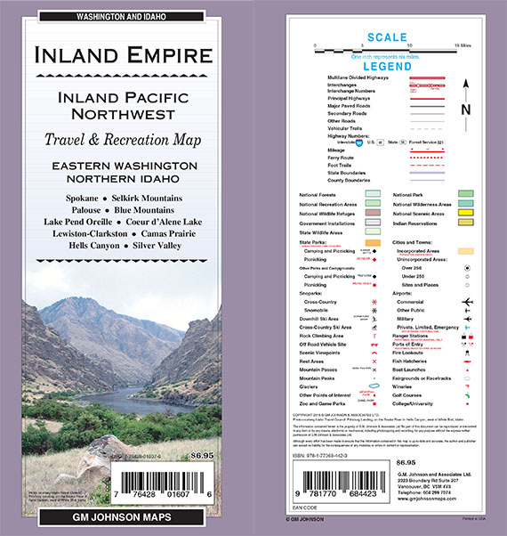 Inland Empire Eastern Wa Northern Id Washington Regional Map