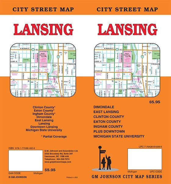 Lansing, Michigan Street Map - GM Johnson Maps