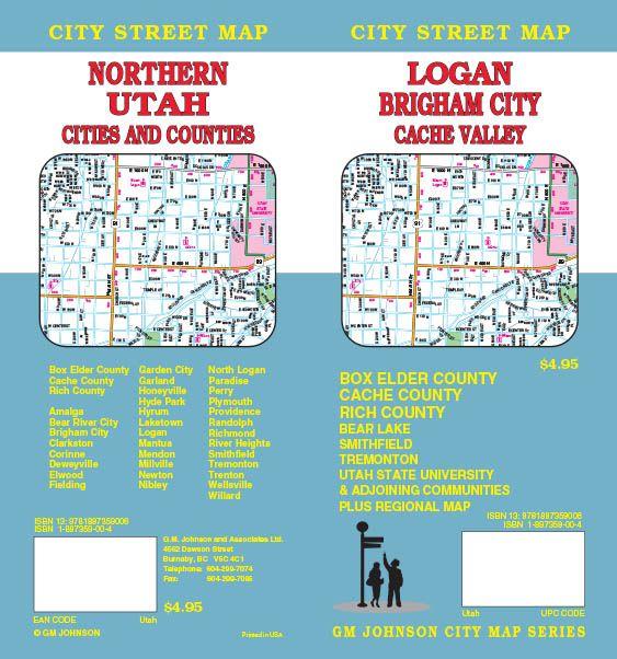 Paradise Utah Map.Logan Brigham City Northern Utah Utah Street Map Gm Johnson Maps