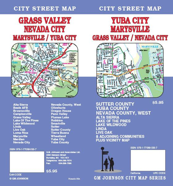 Map Of California Yuba City.Marysville Yuba City Grass Valley Sutter Yuba Nevada California