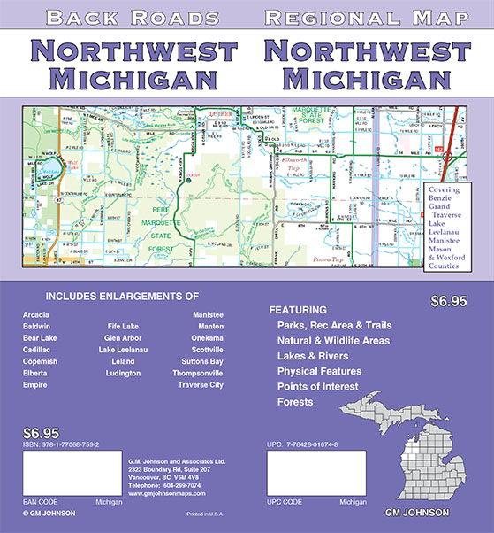 Michigan - Northwest, Michigan Regional Map - GM Johnson Maps