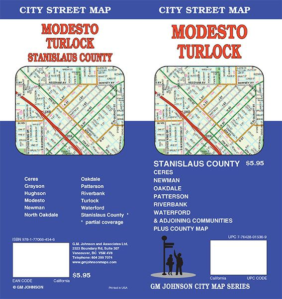 Newman California Map.Modesto Turlock Stanislaus County California Street Map Gm