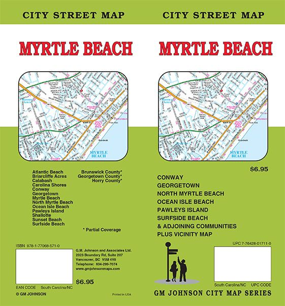 Myrtle Beach South Carolina North Street Map