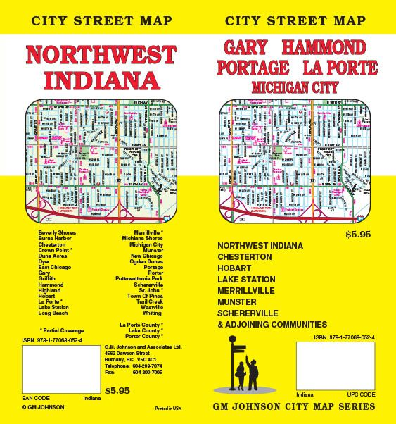 Northwest Chicago Map.Gary Hammond Michigan City Nw Indiana Indiana Street Map Gm