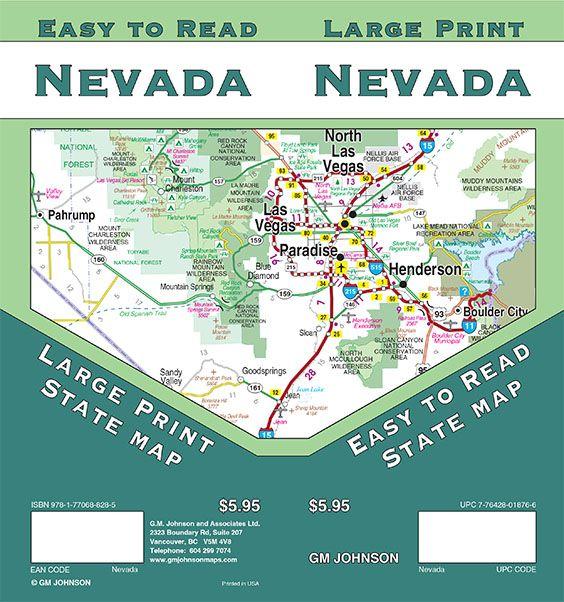 Nevada Maps Catalogue - GM Johnson Maps on large type map of nevada, military map of nevada, reference map of nevada, travel map of nevada,