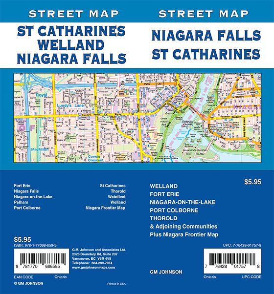 street map niagara falls ontario Niagara Falls St Catharines Welland Fort Erie Ontario Street Map Gm Johnson Maps street map niagara falls ontario