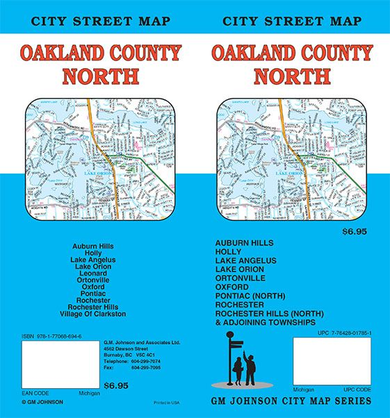 Oakland County North Michigan Street Map Gm Johnson Maps