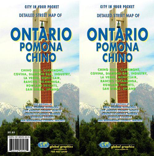 Ontario Pomona Chino Rancho Cucamonga California Street Map