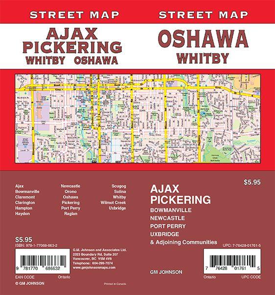 Oshawa Pickering Whitby Ajax Bowmanville Ontario Street Map