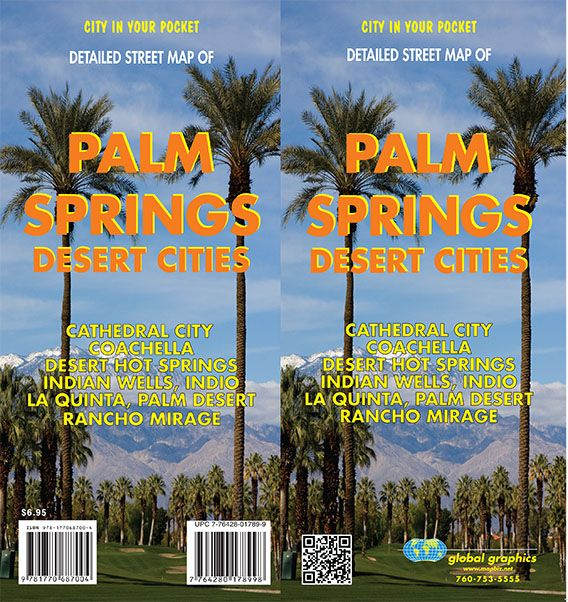 Map Of California Showing Palm Springs.Palm Springs Desert Cities California