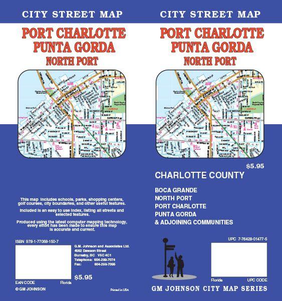 Map Of Port Charlotte Florida.Port Charlotte Punta Gorda North Port Florida Street Map Gm