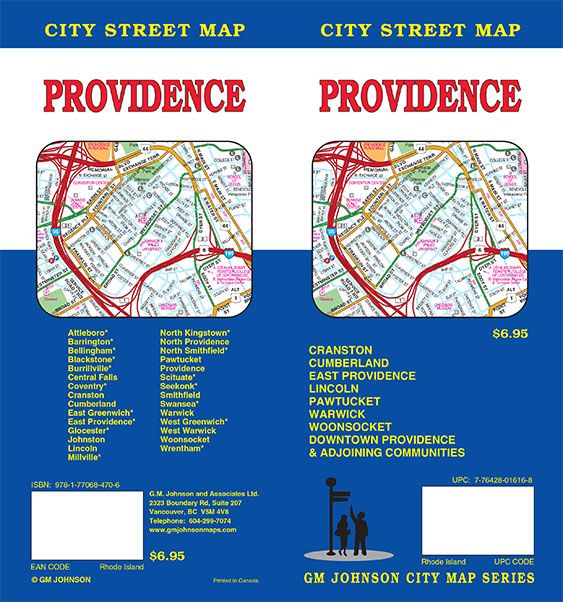 Providence, Rhode Island Street Map - GM Johnson Maps