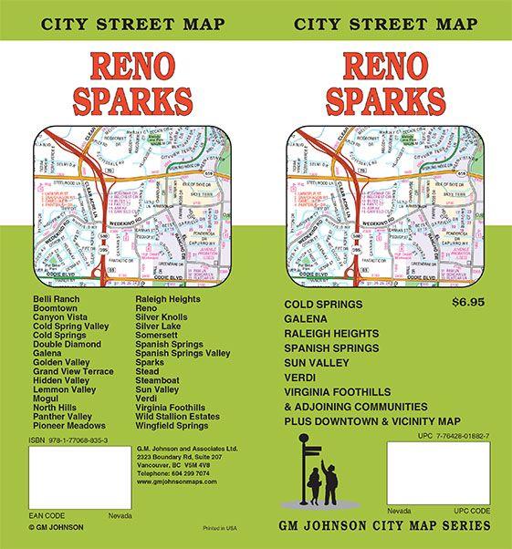 reno nevada street map Reno Sparks Nevada Street Map Gm Johnson Maps reno nevada street map