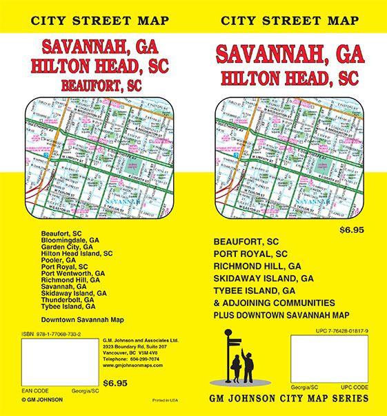 Savannah Georgia Hilton Head SC Beaufort SC Street Map GM