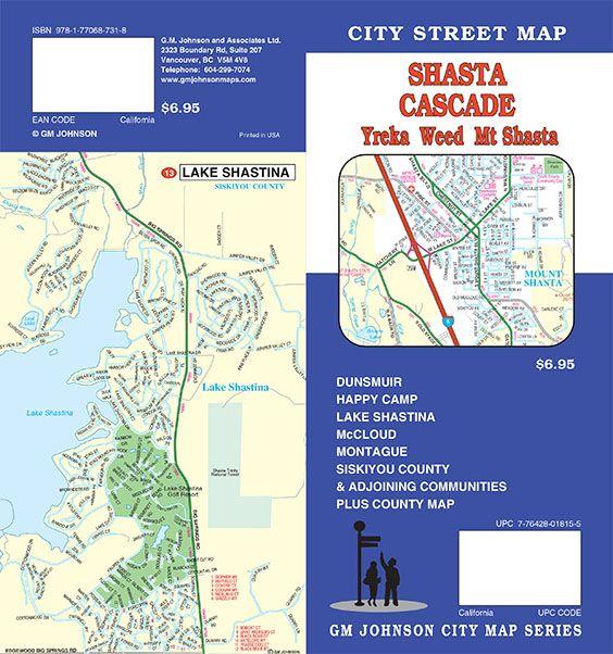 City California Map.Shasta Cascade Yreka Weed Shasta City California Street Map