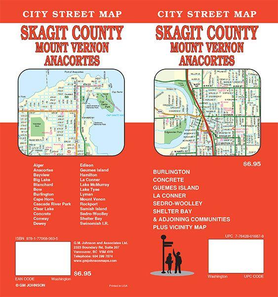 Mt Vernon Washington Map.Skagit County Mount Vernon Anacortes Washington Street Map Gm