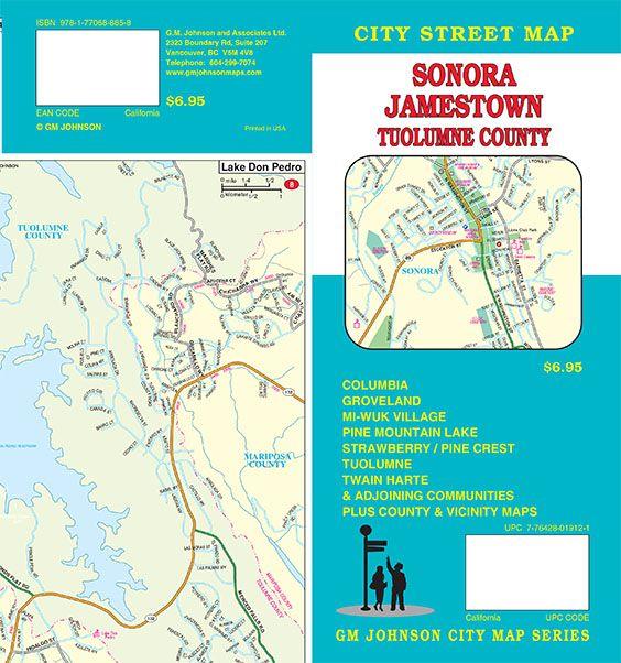 Sonora / Tuolumne County / Twain Harte, California Street Map - GM on