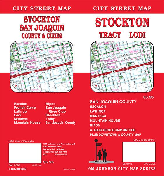Stockton Tracy Lodi San Joaquin County California Street Map