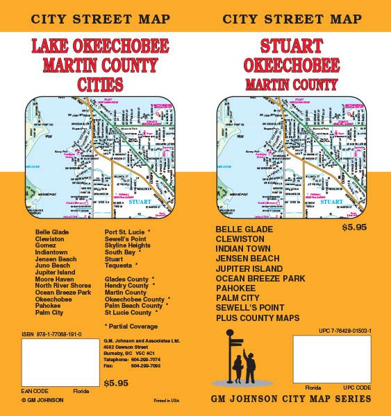 Map Of Stuart Florida.Stuart Okeechobee Martin County Vicinity Florida Street Map