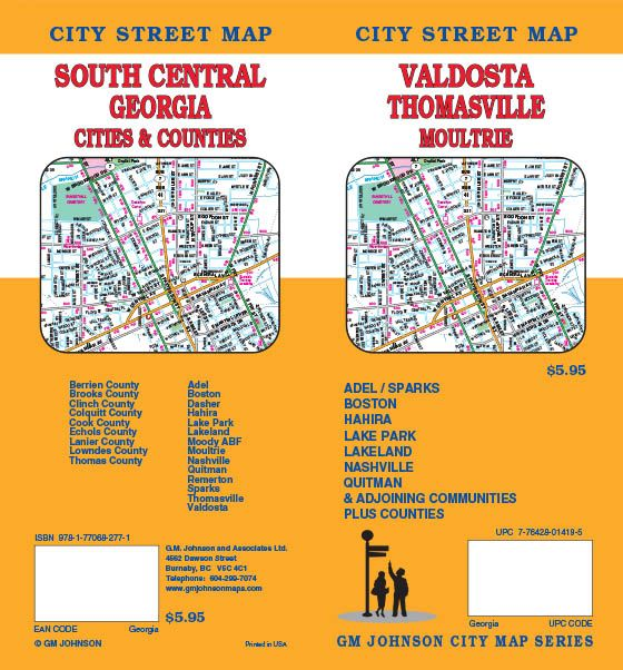 Valdosta Thomasville Moultrie South Central Georgia Georgia - Georgia map valdosta
