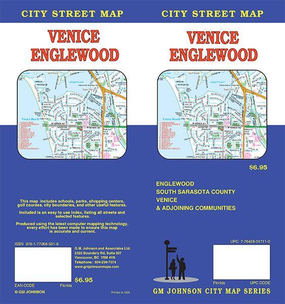 Venice Englewood Florida Street Map Gm Johnson Maps