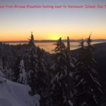 Sunset view from Grouse Mountain looking west to Vancouver Island, Dec 31, 2015
