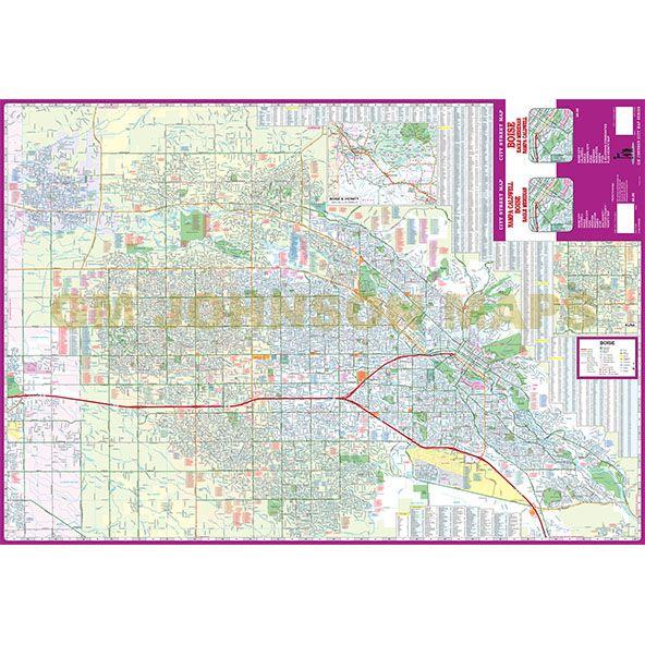 Boise Caldwell Nampa Meridian Idaho Street Map GM Johnson Maps