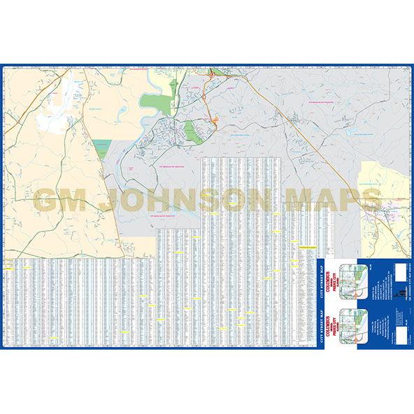 Columbus GA Phenix City AL Georgia Street Map GM Johnson Maps