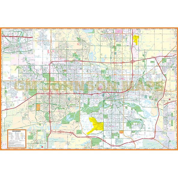 Des Moines  Ames Iowa Street Map  GM Johnson Maps