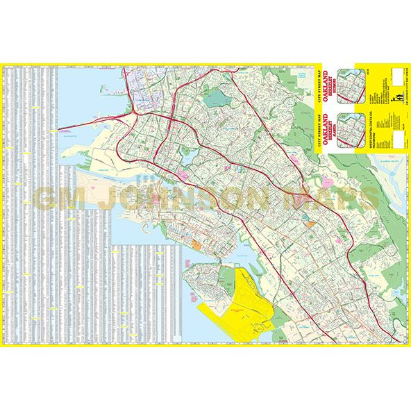 oakland berkeley west contra costa california street map gm johnson maps. Black Bedroom Furniture Sets. Home Design Ideas