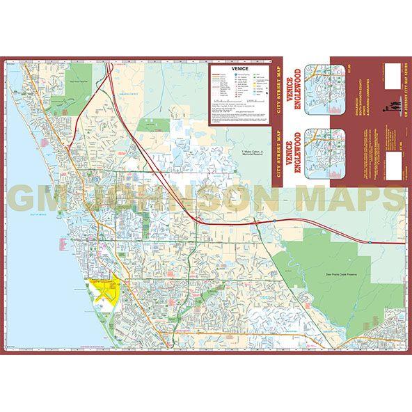 Venice / Englewood, Florida Street Map - GM Johnson Maps