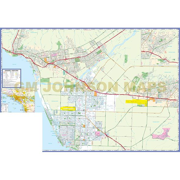 ventura oxnard camarillo ojai california street map gm