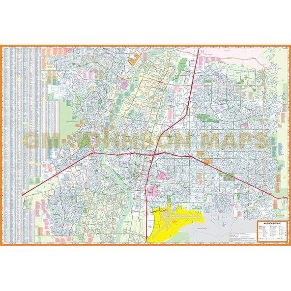 Albuquerque New Mexico Street Map GM Johnson Maps - Albuquerque map