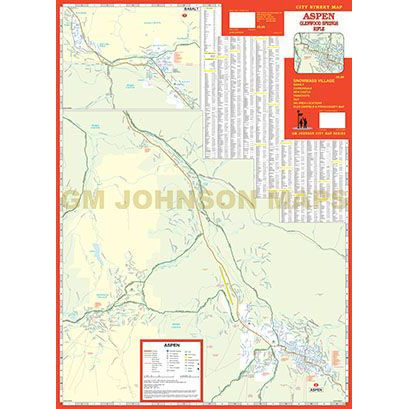Aspen Glenwood Springs Snowmass Rifle Colorado Street Map